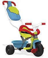 Детский металлический велосипед Smoby с багажником зелено-голубой (740402)