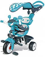 Детский металлический велосипед Smoby Комфорт голубой (740601)