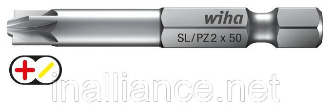 Бит SL / PZ1 х 90 мм Xeno-шлиц / Pozidriv Professional Wiha 32688