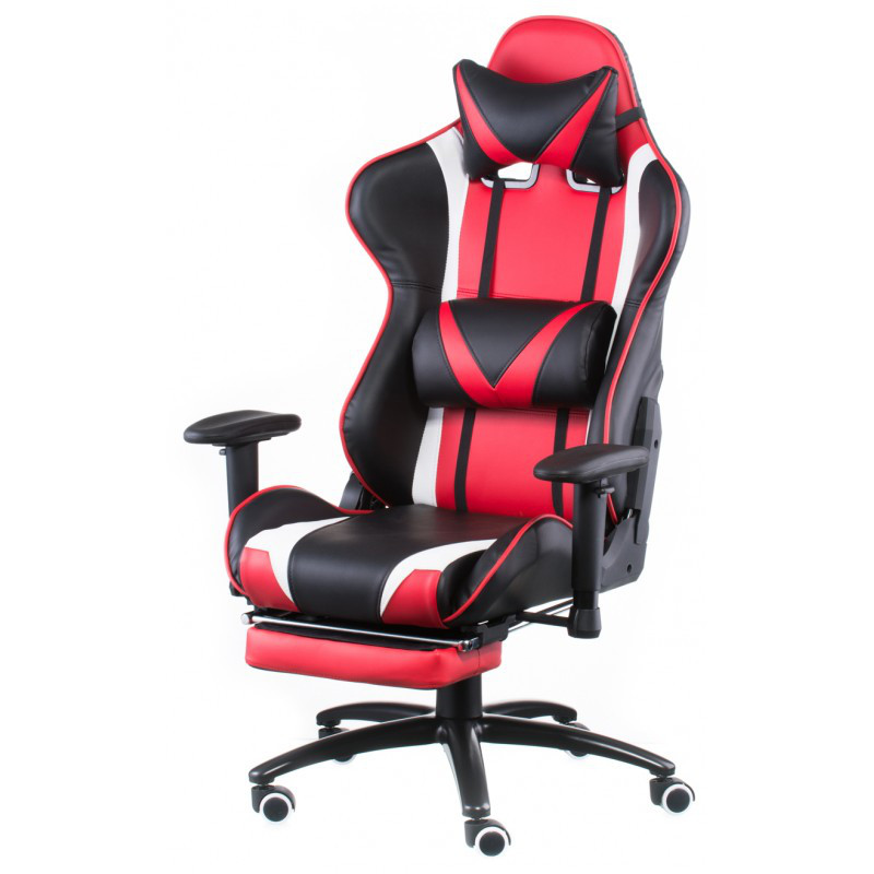 Кресло геймерское Special4You ExtremeRace black/red with footrest (Е4947)
