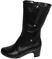 Женские кожаные сапоги демисезонные, сапоги кожаные от производителя модель БМ712