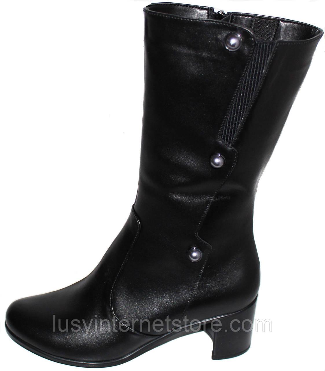 df6baffdf Женские кожаные сапоги демисезонные, сапоги кожаные от производителя модель  БМ712 - Lusy в Харькове