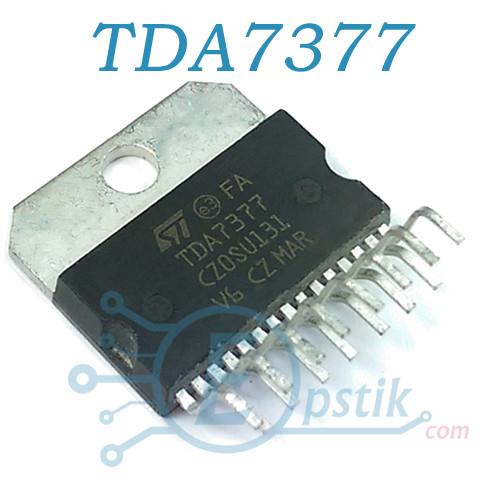 TDA7377, двоканальний аудіо підсилювач, 2х30Вт, MULTIWATT15V