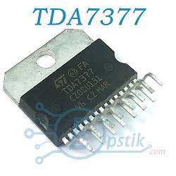 TDA7377, двухканальный аудио усилитель, 2x30Вт, MULTIWATT15V