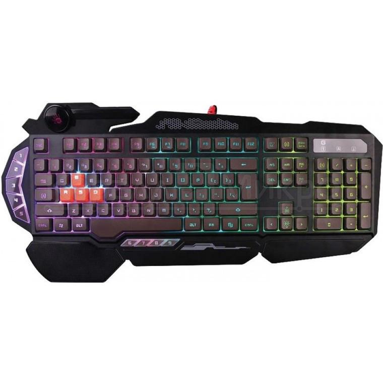 Клавиатура A4 Bloody B314 игровая, мультимедиа, подсветка, USB, чёрный