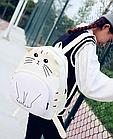 Рюкзак детский подростковый Кот с ушками и хвостиком, фото 4