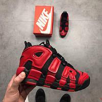 Женские кроссовки в стиле Nike Air More Uptempo QS Black Red (36, 37, 38, 39 размеры)