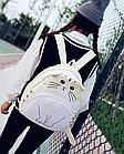 Рюкзак детский подростковый Кот с ушками и хвостиком, фото 3
