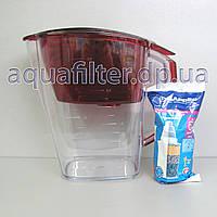 Фильтр-кувшин для воды Барьер Гранд (Grand) Гранат (Красный), фото 1