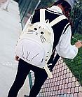 Рюкзак детский подростковый Кот с ушками и хвостиком, фото 2