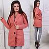 Пальто женское пуговицы карманы (деми), фото 2
