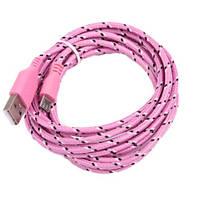 Тканевый кабель шнур Micro USB - USB S176