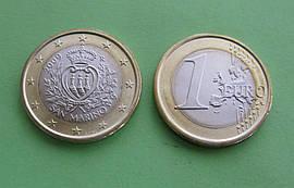 Сан Марино 1 евро 2009 г. UNC.