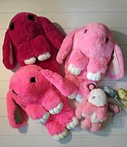 Рюкзачок-сумочка из натурального меха розового цвета, фото 2