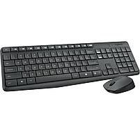 Комплект клавиатура + мышь Logitech Combo MK235 беспроводной, мультимедиа, USB, серый (920-007948), фото 2