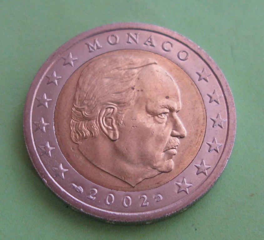 Монако 2 евро 2002 г. UNC.