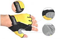 Перчатки для фитнеса (атлетические) / велоперчатки Tiercel: S, M, L, XL (Yellow)