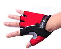 Перчатки для фитнеса (атлетические) / велоперчатки Tiercel: S, M, L, XL (Red)