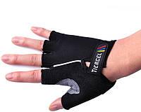 Перчатки для фитнеса (атлетические) / велоперчатки Tiercel: S, M, L, XL (Black)