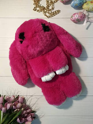 Сумка-рюкзак в виде кролика малинового цвета, фото 2