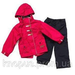 Демисезонная куртка на флисе и штаны для девочки, NANO, размеры 80-92, , 110, 128-140
