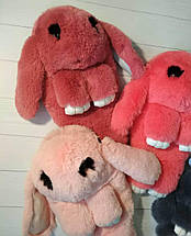 Сумка-рюкзак в виде кролика оранжевого цвета, фото 3