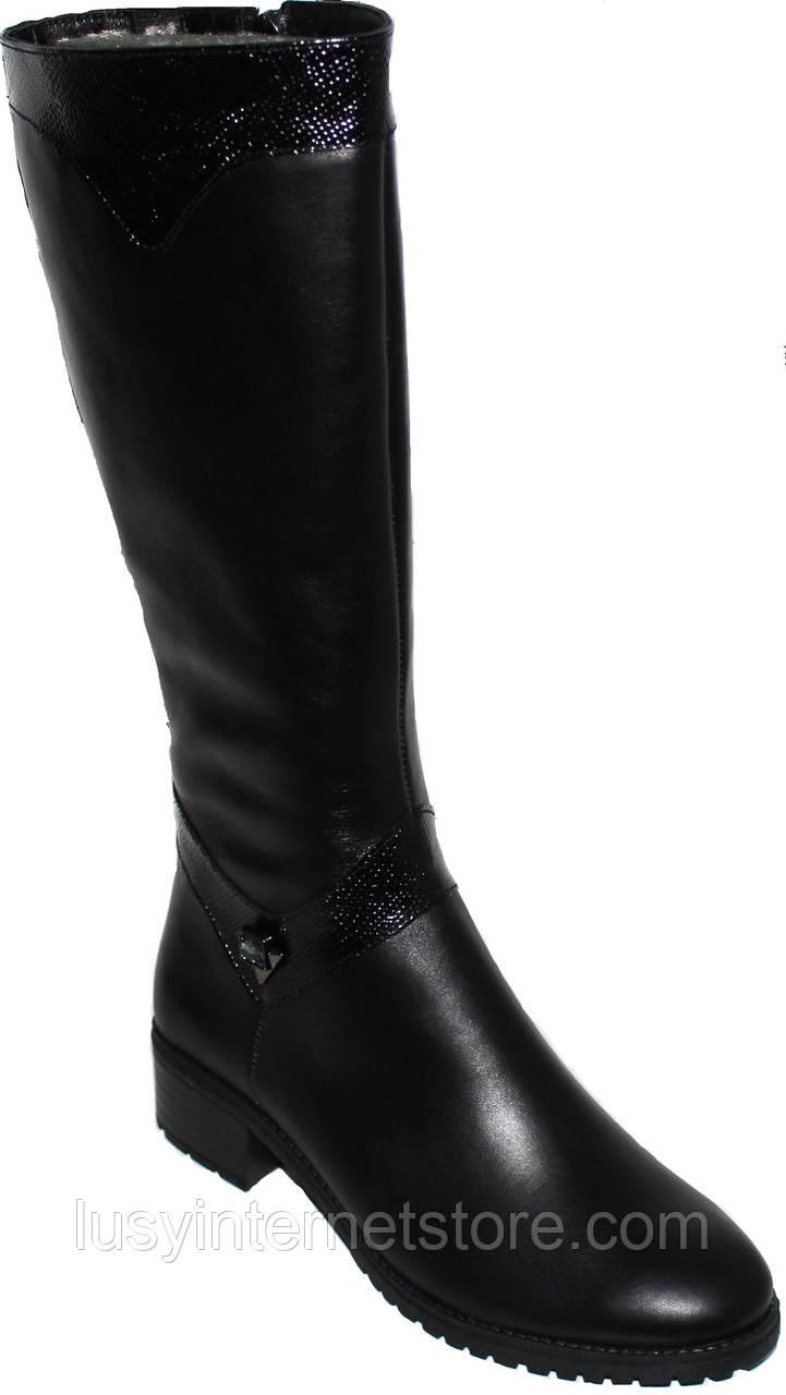 8d4255c7d ... Высокие женские кожаные сапоги демисезонные, сапоги кожаные от  производителя модель БМ736, фото 3
