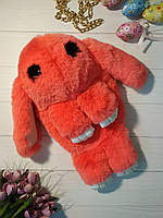 Сумка-рюкзак в виде кролика оранжевого цвета