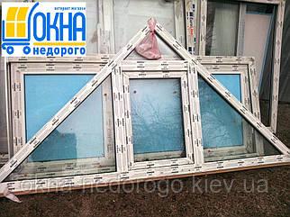 Трикутні вікна пластикові