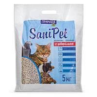SaniPet Универсальный древесный наполнитель для животных 5кг