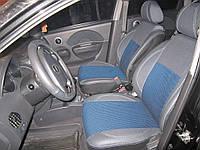 Авто чехлы Chevrolet Aveo (04-06) кожзам+ткань