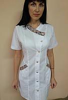 Женский медицинский халат Китай на пуговицах короткий рукав