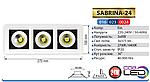 Світильник точковий SABRINA - 24 Вт LED 2700K, фото 3