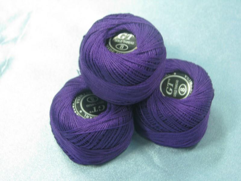 Нитки ирис темно-фиолетовый № 113