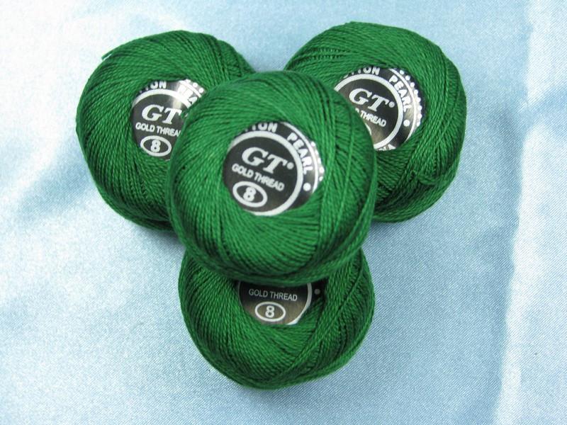 Нитки ирис темно зеленый № 212