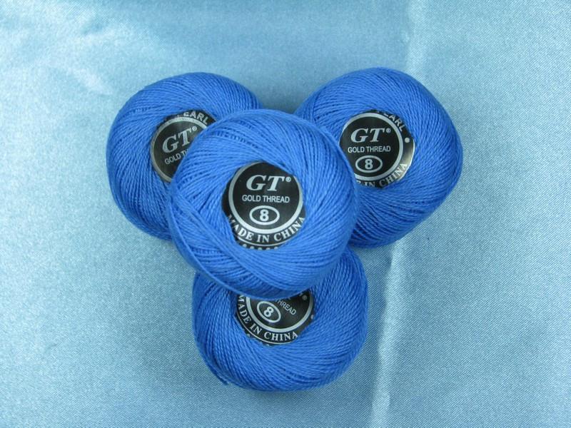 Нитки ирис синий № 304