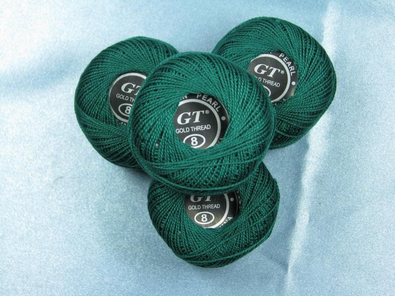 Нитки ирис сине-зеленый № 506