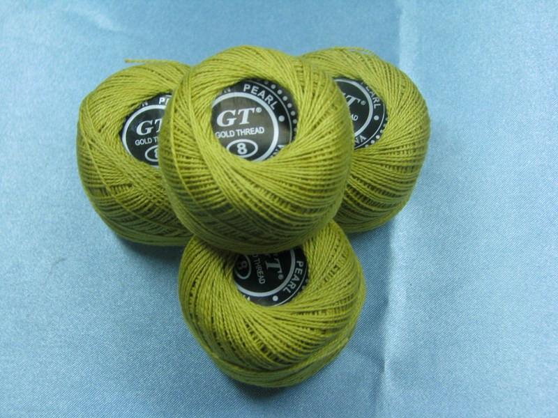 Нитки ирис светло-зеленый № 653