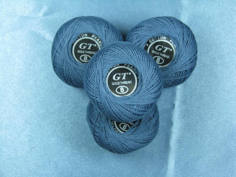 Нитки ирис серо-синий № 756