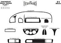 Chevrolet Tacuma накладки на панель цвет дерево