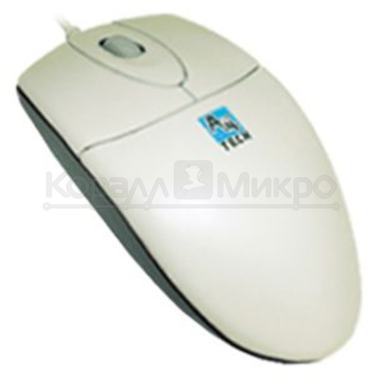 Мышь A4 OP-720 3D, 800dpi, USB, серебристый