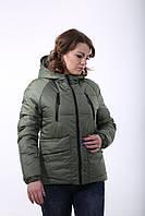 Красивая деми куртка Милара хаки, фото 1