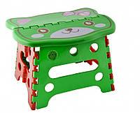 Стульчик складной детский пластиковый фигурный с картинкой  240*190*180 мм