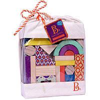 Деревянные кубики Еловый домик (40 деталей,  в сумочке) Battat (BX1361Z)