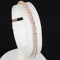 Симпатичный браслет с кристаллами Swarovski и позолотой 0621, фото 1