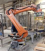 Установка и монтаж  робота - паллетизатора