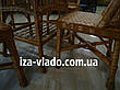 Плетеная мебель из лозы для кухни — прямоугольный стол и 4 стула, фото 4