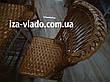 Плетеная мебель из лозы для кухни — прямоугольный стол и 4 стула, фото 6