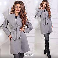 Женское кашемировое пальто мод.103  Новинка 2018