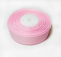 Лента репсовая 2,5см светло розовая